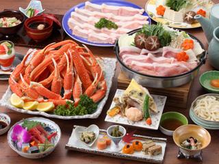 ずわい蟹食べ放題&黒豚すき焼き)