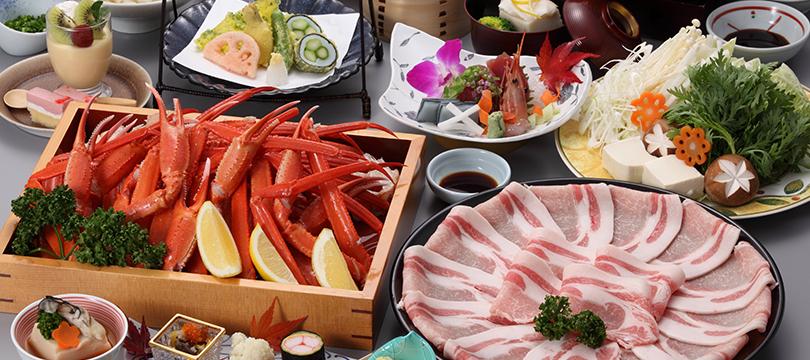 蟹食べ放題(90分)&松阪ポークしゃぶしゃぶ付き宿泊プラン