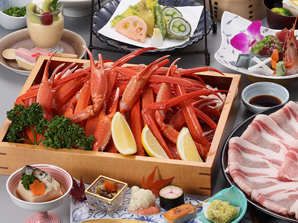 ずわい蟹食べ放題(90分)&奥入瀬ガーリックポークしゃぶしゃぶ付き宿泊プラン