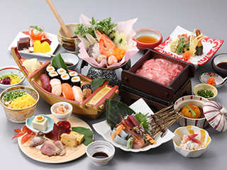 【新プラン】黒毛和牛蒸ししゃぶ&にぎり寿司付き宿泊プラン