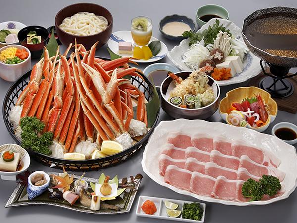 ずわい蟹90分食べ放題&松阪ポークしゃぶしゃぶ付宿泊プラン