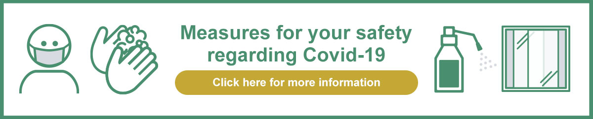 Measures for your safety regarding Covid-19